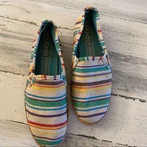 Keds multifolor espadrilles shoes size 8.5